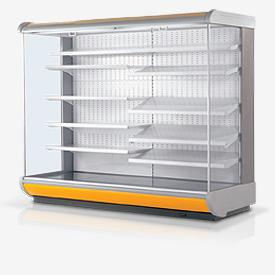 Холодильное оборудование, Пристенные витрины
